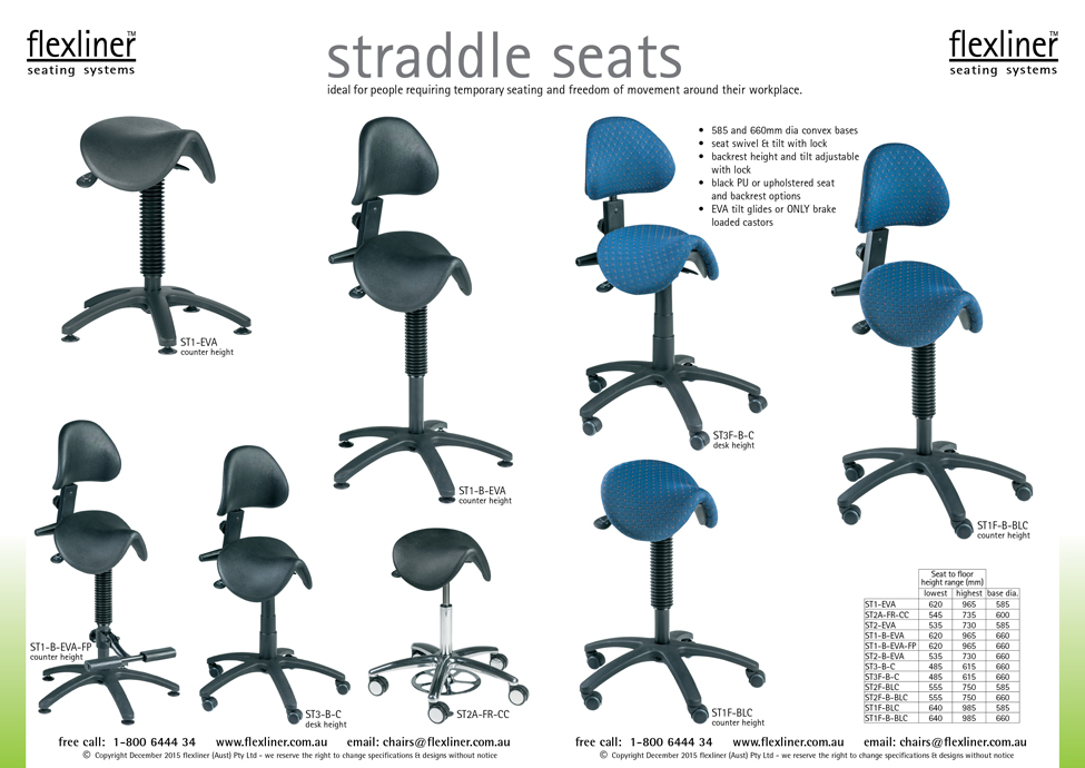 Straddle Seats Seating For Workplaces Flexliner Australia